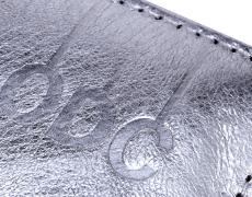 Silver Leather Menu Card Holder & Coin Purse